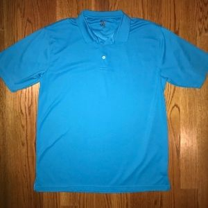 R&R Casuals Men's Size Large Polo Shirt Blue NWOT